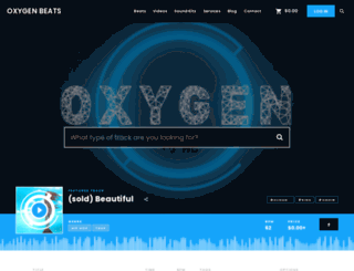 oxygenbeats.com screenshot