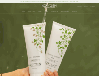 oxygenskincare.co.nz screenshot