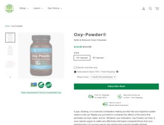 oxypowder.com screenshot