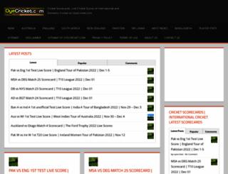 oyecricket.com screenshot