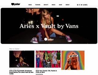 oystermag.com screenshot