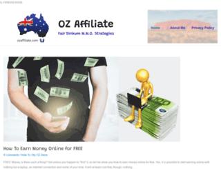 ozaffiliate.com screenshot