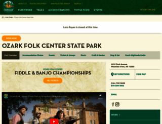 ozarkfolkcenter.com screenshot