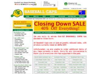 ozbaseballcaps.com.au screenshot