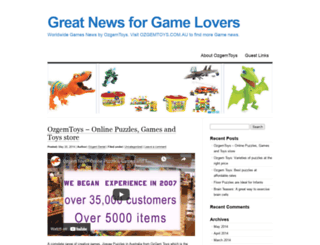 ozgemtoys.wordpress.com screenshot