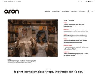 ozonweb.com screenshot