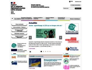 paca.direccte.gouv.fr screenshot