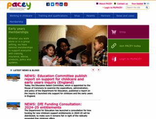 pacey.org.uk screenshot