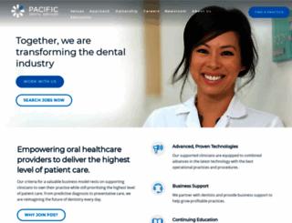 pacificdentalservices.com screenshot