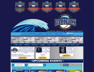 pacificsbaseball.com screenshot