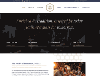 pacificwineandspirits.com screenshot