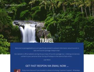 packagesbalitours.com screenshot