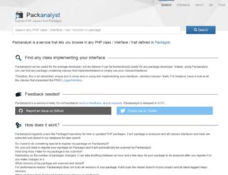 packanalyst.com screenshot