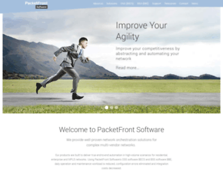 packetfront.com screenshot