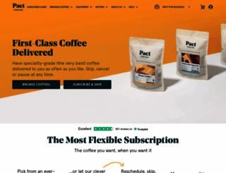 pactcoffee.com screenshot