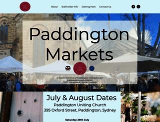 paddingtonmarkets.com.au screenshot