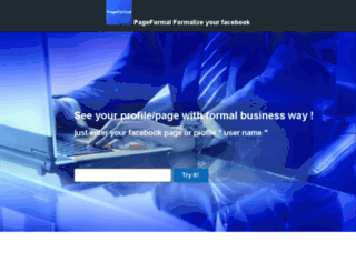 pageformal.com screenshot