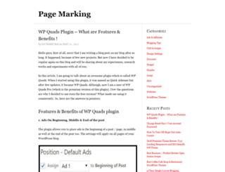 pagemarking.com screenshot