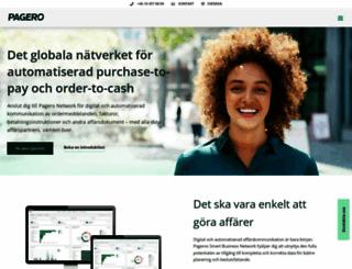 pagero.se screenshot