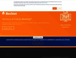 pages.beckon.com screenshot