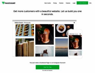 pagevamp.com screenshot