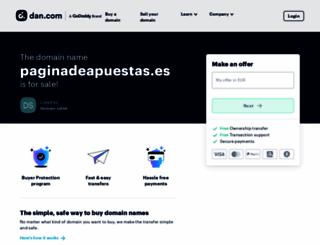 paginadeapuestas.es screenshot