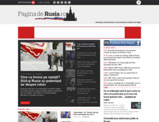 paginaderusia.ro screenshot
