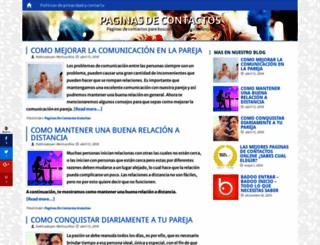 paginasdecontactosweb.com screenshot