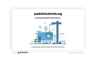 paidclinicaltrials.org screenshot