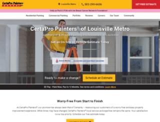 paintersoflouisville.com screenshot