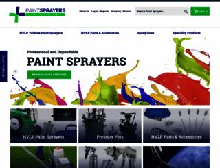 paintsprayersplus.com screenshot
