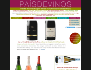 paisdevinos.com screenshot