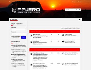pajeroclub.co.za screenshot