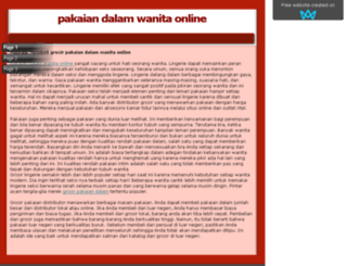 pakaiandalamwanitaonline.sitew.org screenshot