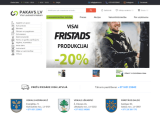 pakavs.lv screenshot