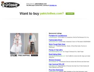 pakiclothes.com screenshot
