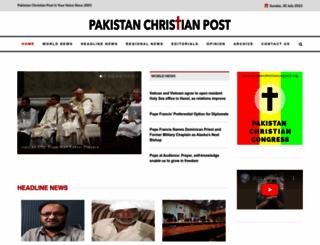 pakistanchristianpost.com screenshot