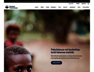 pakolaisapu.fi screenshot