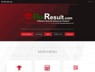pakresult.com screenshot