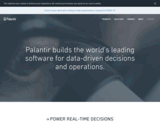 palantirtech.com screenshot