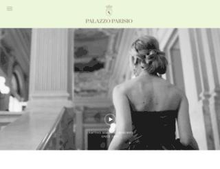 palazzoparisio.com screenshot