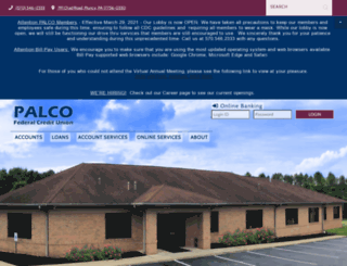 palcofcu.org screenshot