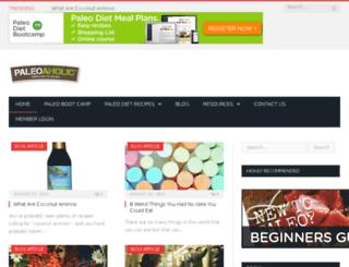 paleoaholic.com screenshot