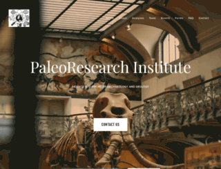 paleoresearch.com screenshot