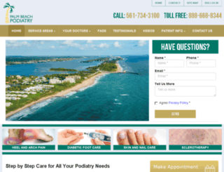 palmbeachpodiatry.fosterwebmarketing.com screenshot