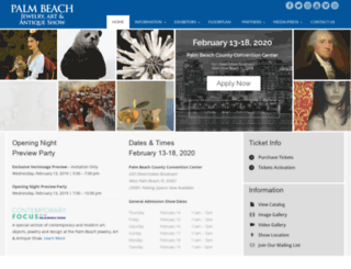 palmbeachshow.com screenshot