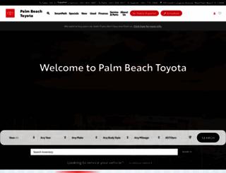 palmbeachtoyota.com screenshot