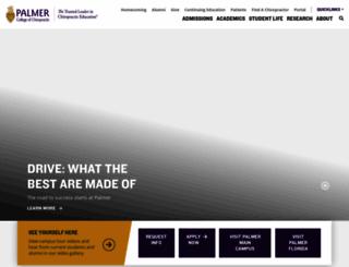 palmer.edu screenshot