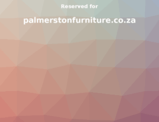 palmerstonfurniture.co.za screenshot