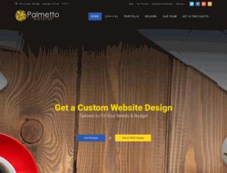 palmettowebdesign.com screenshot